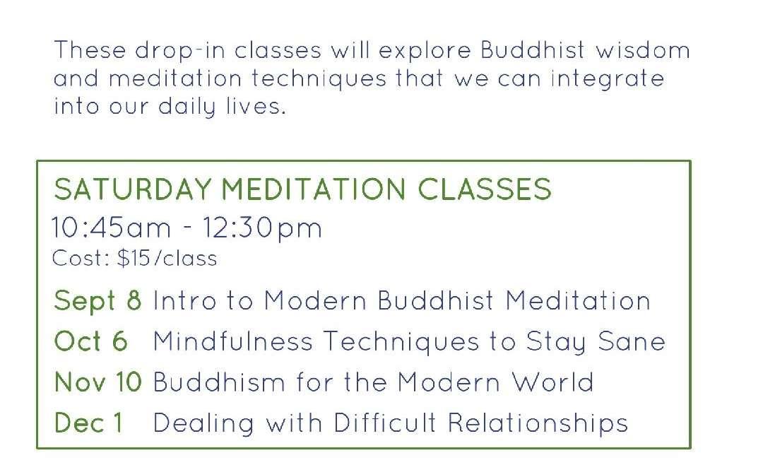 MEDITATION & MINDFULNESS CLASSES